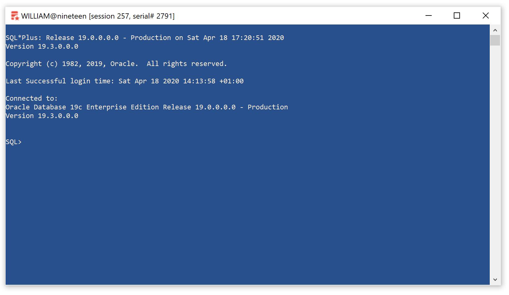 Setting up SQL*Plus on Windows