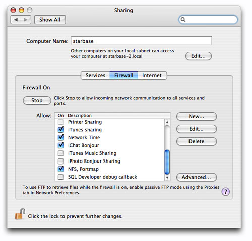 How to configure an NFS share from Mac OSX to Linux